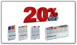 COPIC SETS CHRISTMAS OFFERS -20% ΕΚΠΤΩΣΗ