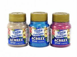 Acrilex Fabric Paint Glitter 37ml