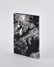 Notebook Nightflight L Light NYC SILVER
