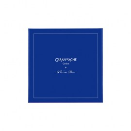 CARAN D' ACHE Gift Set KLEIN BLUE® LÉMAN Fountain Pen with Inkwell - Limited Edition