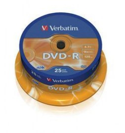 DVD-R 16X 120/4.7G Spindle 25T